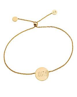 9 Carat Disc Trace Slide Bracelet