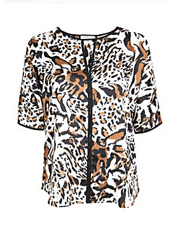 Lovedrobe GB Animal Print Keyhole Top