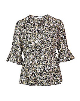 Lovedrobe GB Floral Wrap Top
