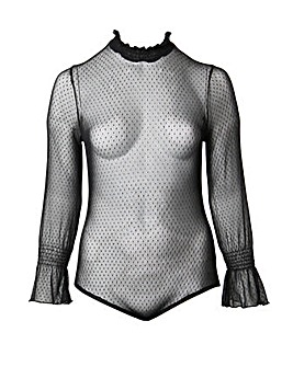 Koko Spot Mesh Sheer Body