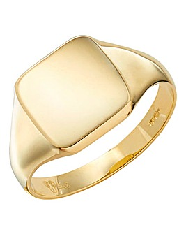 9 Carat Gold Mens Signet Ring