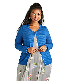 Yumi Curves Scallop Trim Cardigan