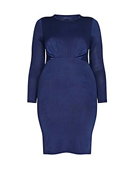 Mela London Curve Ruched Bodycon Dress
