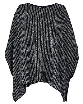 Izabel London Curve Knitted Poncho