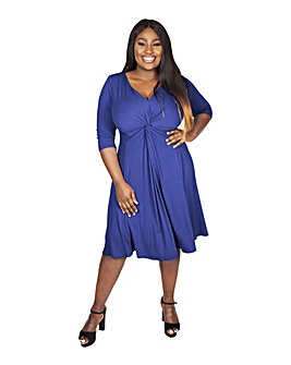 Scarlett & Jo Blue Knot Front Dress