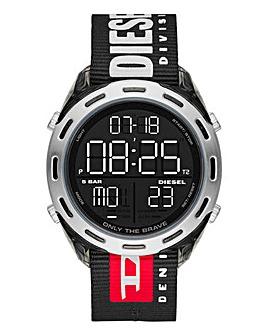 Diesel Mens Logo Nylon Strap Watch