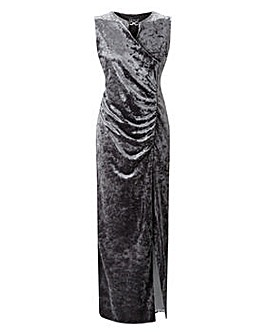 Grace velour maxi dress