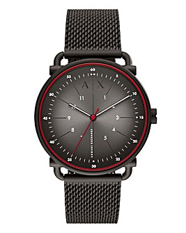 AX Gents Rocco Black Mesh Watch