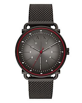 AX Gents Rocco Black Mesh Watch