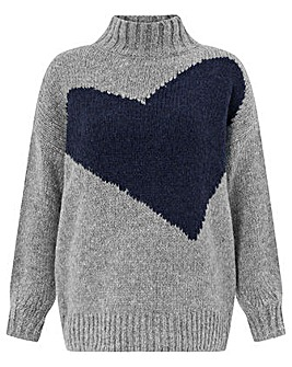 Monsoon Immy Impact Heart Jumper
