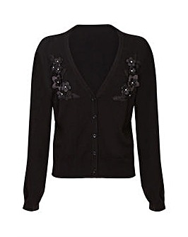 Yumi Curves Applique Bolero Cardigan