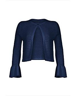 Yumi Curves Peplum Sleeve Cardigan