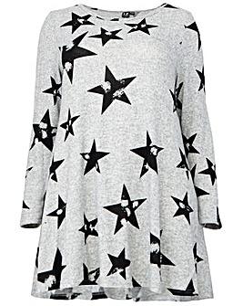 Izabel London Curve Print Shift Dress