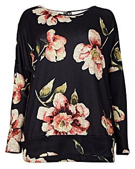 Izabel London Curve Print Oversized Top