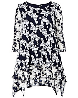 Izabel London Curve Floral Print Top