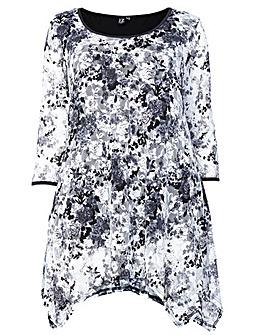 Izabel London Curve Long Sleeve Lace Top