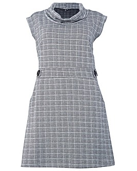Izabel London Curve Check Print Dress