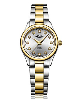 Rotary Ladies Silver/Gold Two Tone Watch