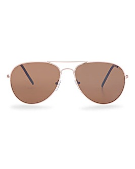 Squadron Gold Aviator Sunglasses
