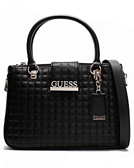 Guess Matrix Quilted Satchel Bag