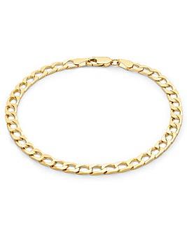 Gents 9 Carat Gold Square Curb Bracelet