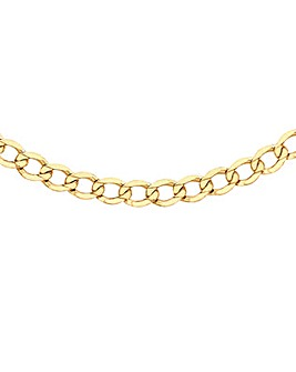 Gents 9 Carat Gold Flat Curb Chain