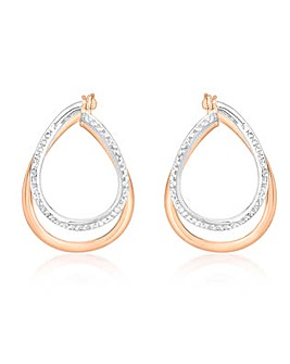 9 Carat Gold Double Oval Hoop Earrings
