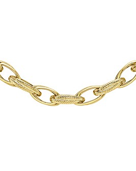 9Ct Gold Chunky Textured Necklace