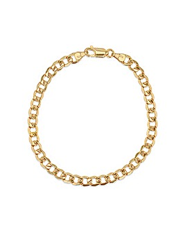 Gents 9 Carat Gold Hollow Curb Bracelet