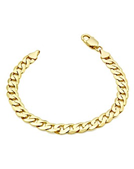 Gents 9 Carat Gold Curb Bracelet
