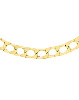 Gents 9 Carat Gold Square Curb Chain
