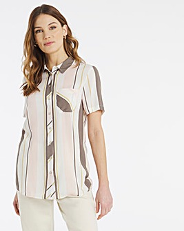 Julipa Crinkle Stripe Shirt