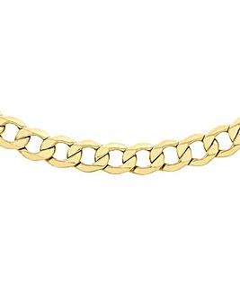 Gents 9 Ct Gold 1/4oz Hollow Curb Chain