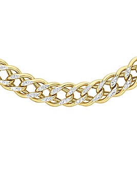 9 Carat Two-Tone Double Curb Chain