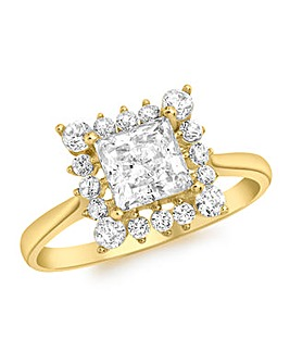 9 Carat Gold Cubic Zirconia Ring