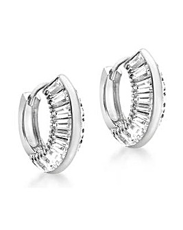 9 Carat White Gold Huggy Earrings