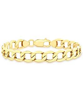 Gents 9 Carat Gold Curb Bracelet
