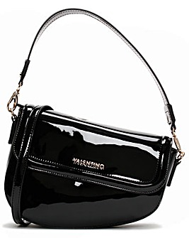 Valentino By Mario Valentino Bicorno Patent Satchel Bag