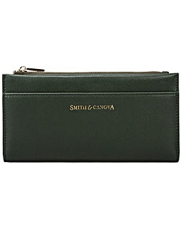 Smith & Canova Smooth Leather Long Zip