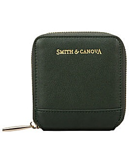 Smith & Canova Smooth Leather Square Zip Purse
