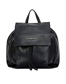Smith & Canova Embossed Leather Drawstring Backpack