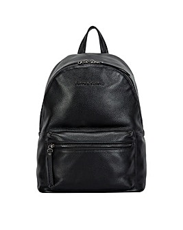 Smith & Canova Embossed Leather Zip Around Backpack