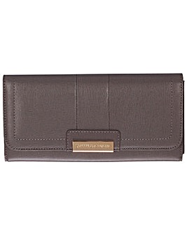 Smith & Canova Saffiano Leather Flap Over Purse