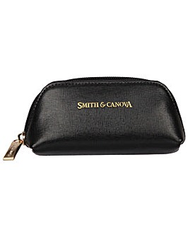 Smith & Canova Saffiano Leather Zip Coin