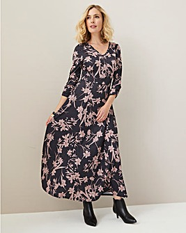 Julipa Stretch Jersey Maxi Dress