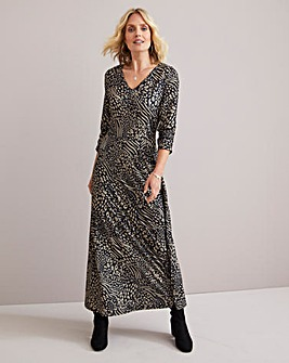 Julipa Stretch Jersey Maxi Dress