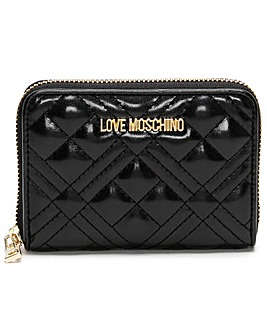Love Moschino Diamond Check Quilted Coin Purse