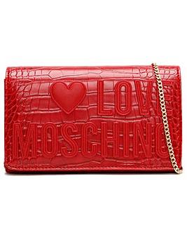 Love Moschino Croc Logo Cross-Body Bag