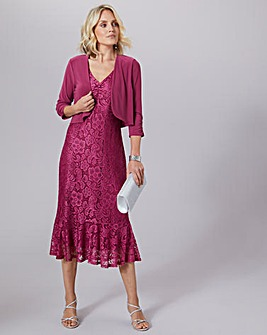Julipa Stretch Lace Dress with Shrug