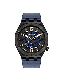 Police Gents Leather Strap Watch